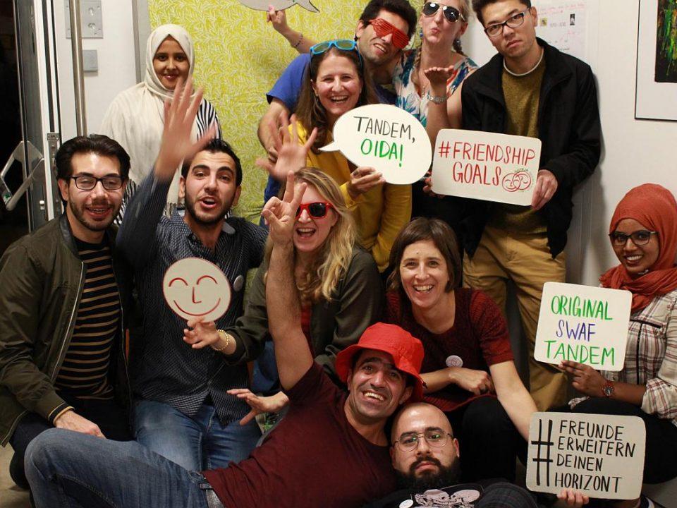 Gruppenfoto SwaF-Geburtstagsfeier