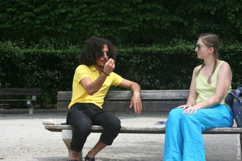 Omar Kir Alanam im Interview mit Stefanie